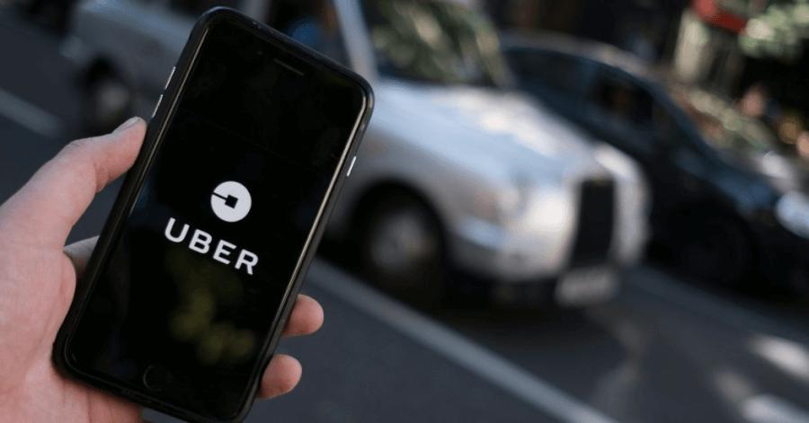 Dịch vụ đặt xe qua ứng dụng Uber.