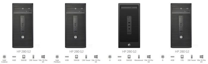 ZA HP desktops