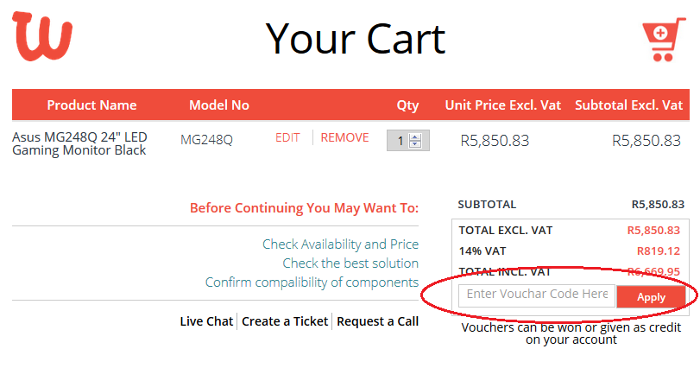 ZA Weable voucher code