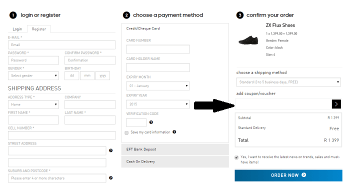enter your adidas coupon code