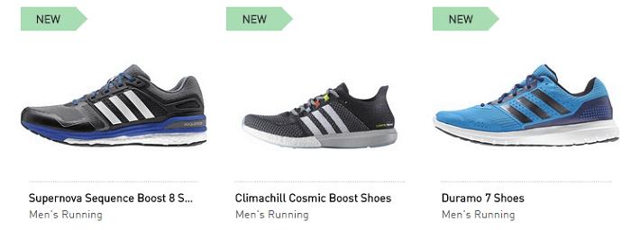 adidas range of footwear