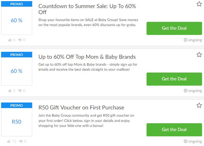 BabyGroup deals and voucher codes