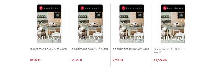 ZA Boardmans gift card