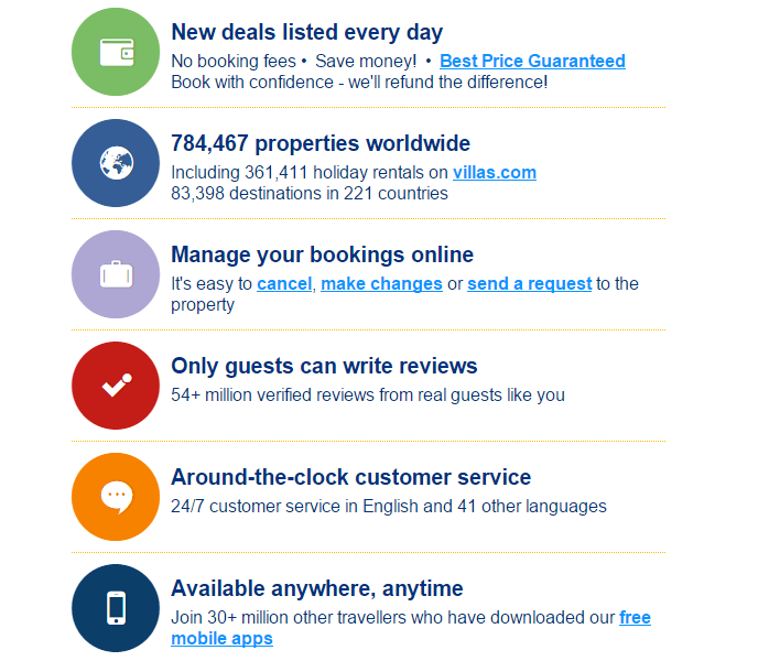 reasons why you should book at Booking.com