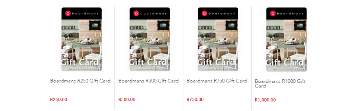 ZA Boardmans gift card