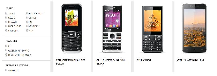 ZA Cell C phones