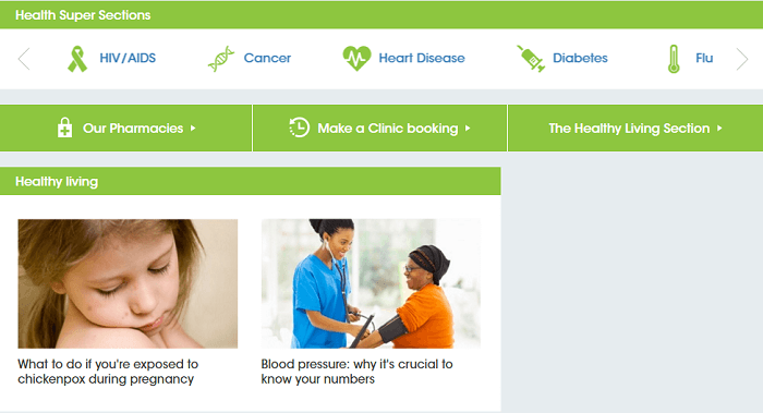 ZA Clicks health