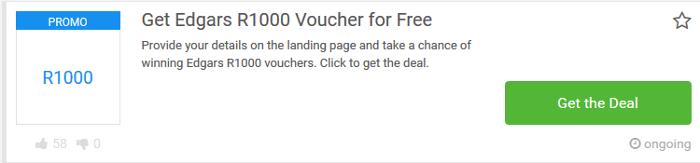 ZA Consumer Rewards Edgars voucher.