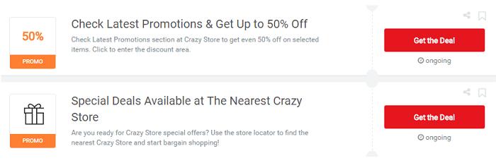 ZA Crazy Store voucher