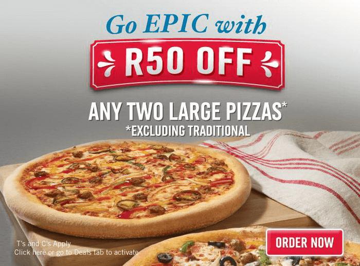 ZA Domino's Pizza deal