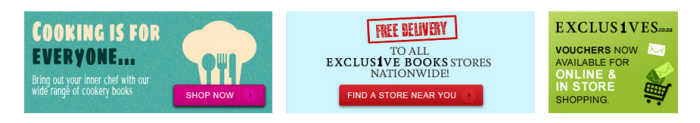 free delivery at Exclusive Books