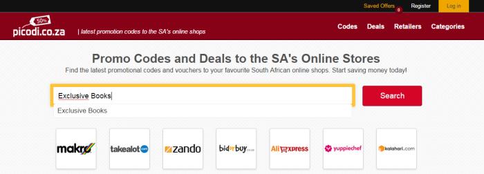 Search for Exclusive Books at Picodi.co.za