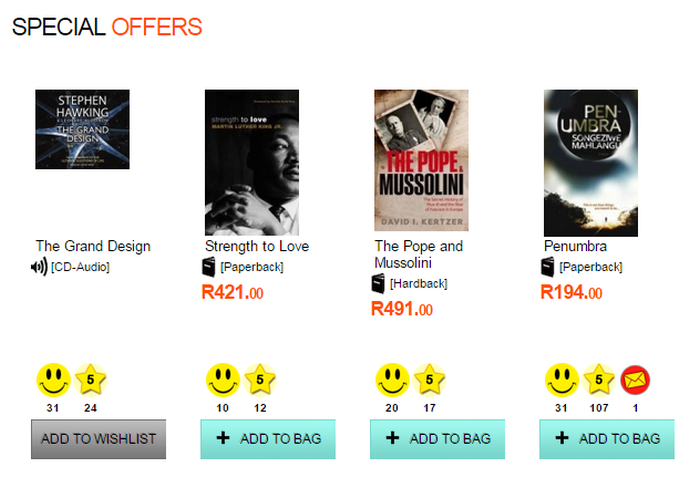 Special offers and deals at Exclusive Books