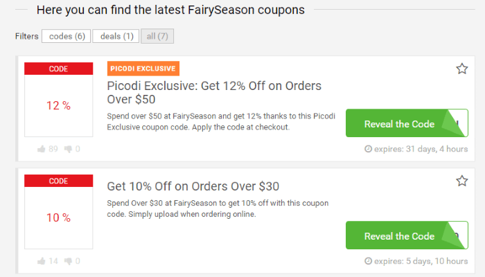 Fairy Season Picodi SA deals