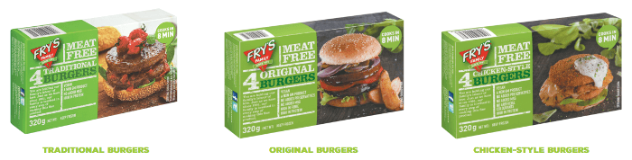 ZA Fry's Family Foods burgers
