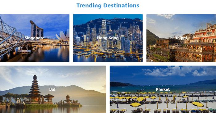Top destinations at HomeAway