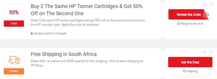 ZA HP Shop voucher