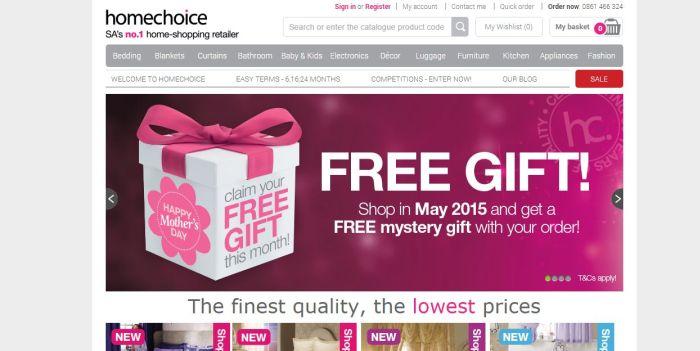 ZA HomeChoice free gift