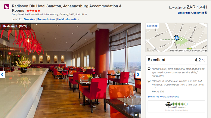 Hotels.com South Africa hotel bookings