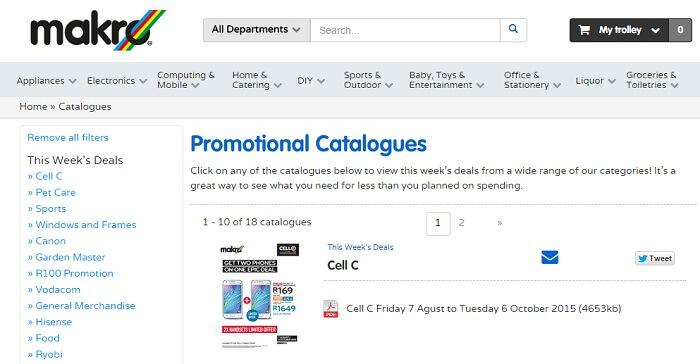 ZA Makro catalogues