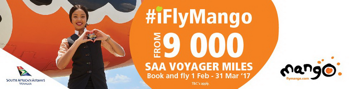 ZA Mango Airlines Voyager Miles