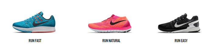 Nike's running collection