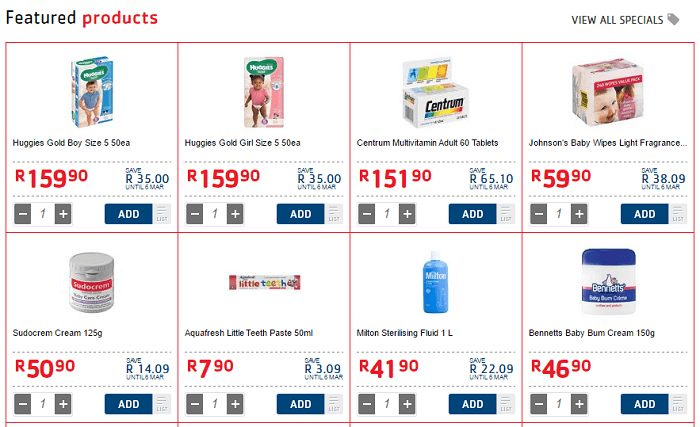 Pick n Pay featured products