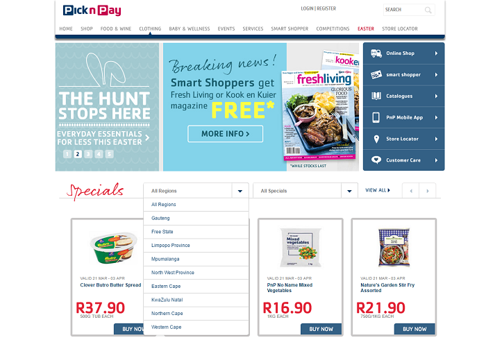 shop at Pick N Pay with online promotional codes