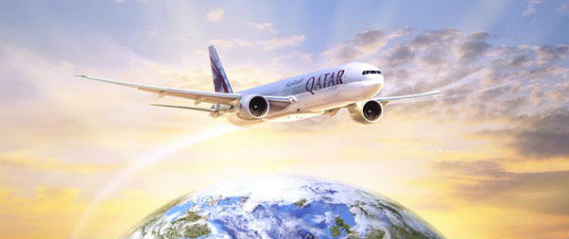 Qatar Airways flight image
