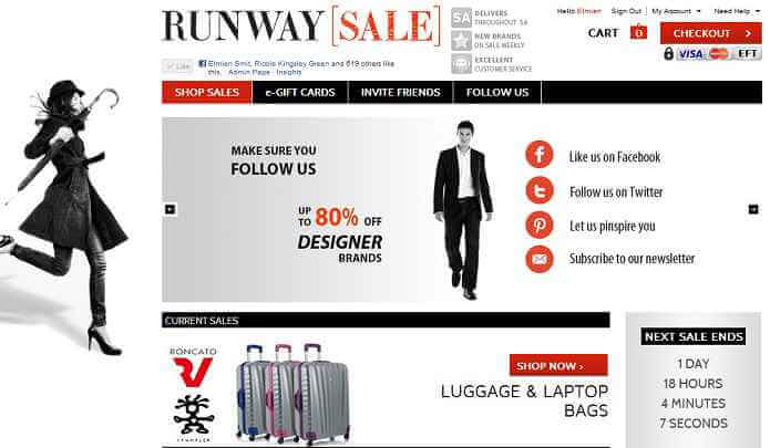 Shop at Runway Sale and enjoy sale everyday