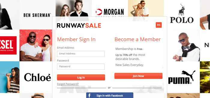 become a Runway Sale member