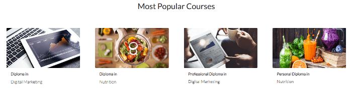 ZA Shaw Academy popular courses