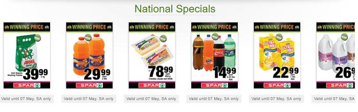 ZA Spar specials