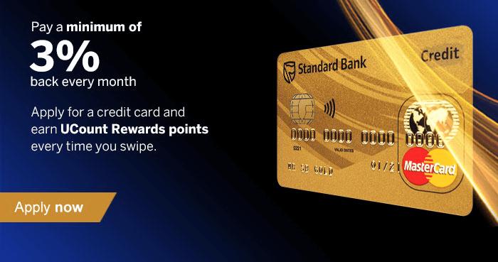 ZA Standard Bank credit card