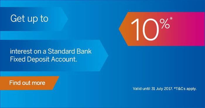 ZA Standard Bank deposit account