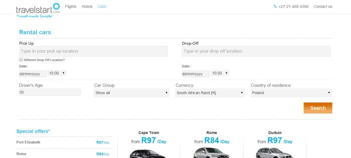 ZA Travelstart car rental