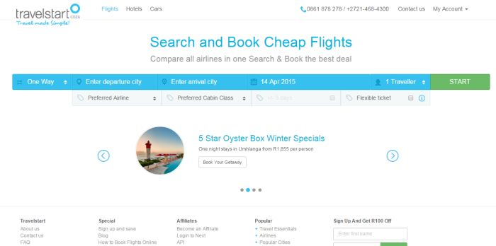 ZA Travelstart cheap flights