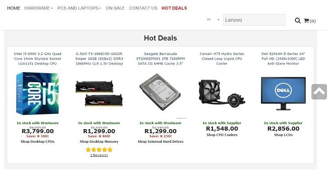 ZA Wootware hot deals